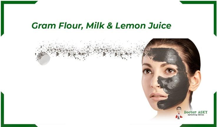 Gram Flour , Milk and Lemon Juice